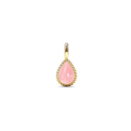 Forgyldt sølv twisted vedhæng med rosa kvarts fra Spinning Jewelry