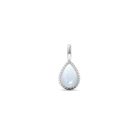 Sølv twisted vedhæng med hvid månesten fra Spinning Jewelry