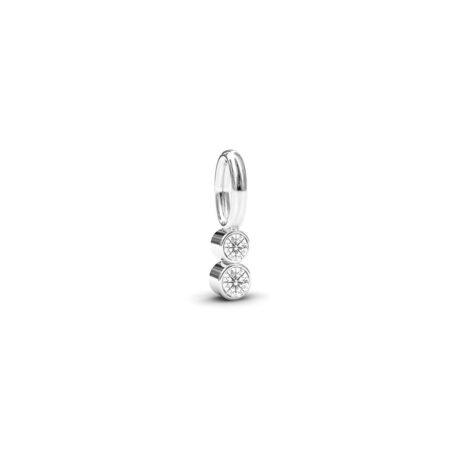 sølv shine vedhæng med swarowski krystaller